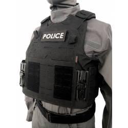 Bandeau velcro POLICE 125x50mm
