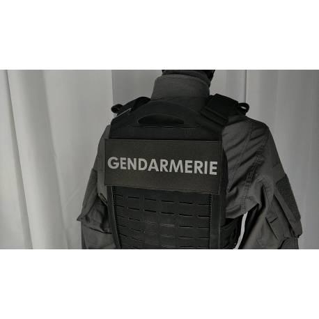 Bandeau velcro GENDARMERIE 220x100mm noir texte gris