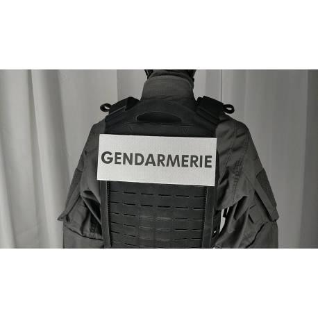 Bandeau velcro GENDARMERIE 250x100mm gris texte noir