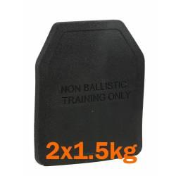 Paire de plaques d'entraînement 250x300mm (2x2.5kg)